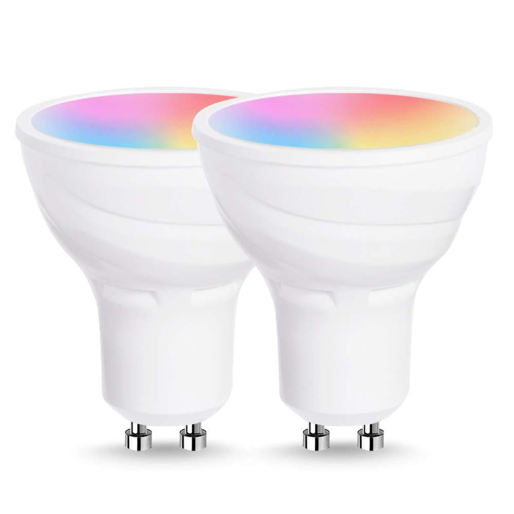 RGBW Dimmable Smart <strong>Bulb</strong> GU10 LED <strong>Bulb</strong> WiFi Smart LED Light <strong>Bulb</strong> Compatible With Tuya APP/ Alexa/ Google Home