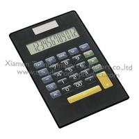 Black portable touch screen touching panel calculator