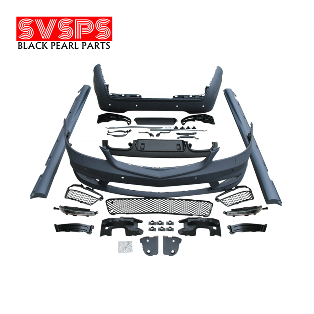 Tuning Parts Front bumper Body kit PP For Mercedes Benz S class W221 S65 Model s350 HEAD LIGHTS OLD TO NEW TAIL LIGHT BUMPER
