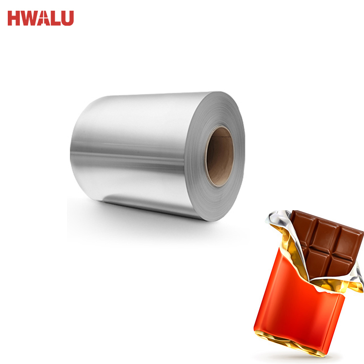 2019 High Quality 0.2mm thickness household aluminum tin foil for chocolate wrapping