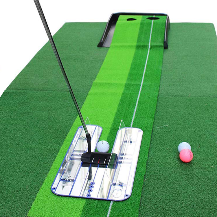 Golf Putting Alignment Mirror Golf Training Aids Outdoor Sports Products Suit to Golf with blue lines