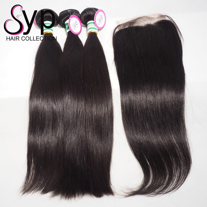 Cuticle Aligned Double Drawn No Mix Hair Bundle And Lace Front Closures For Weaving Extensions Online