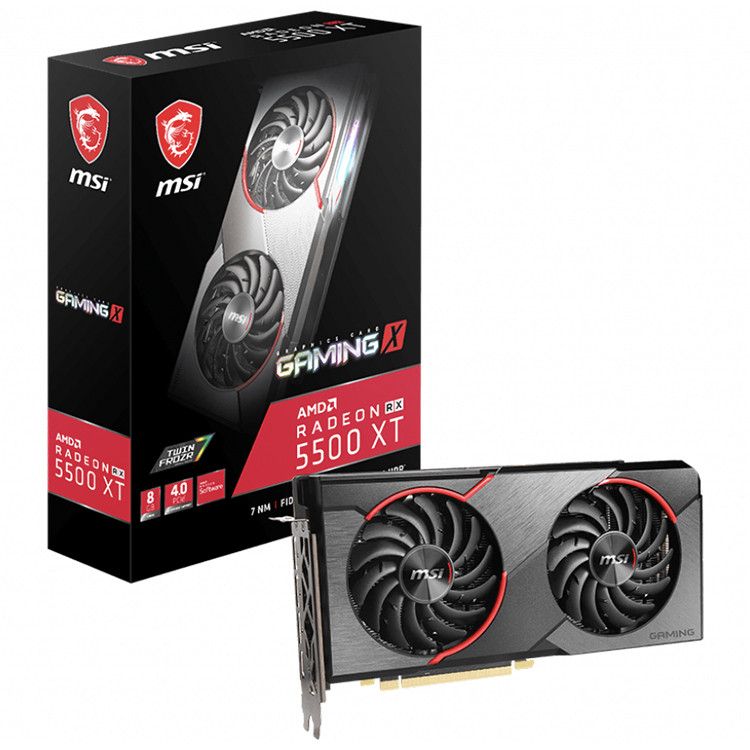 MSI AMD Radeon RX 5500 XT GAMING <strong>X</strong> 8G Graphics Card with 8GB GDDR6 128-bit Memory Support VR READY