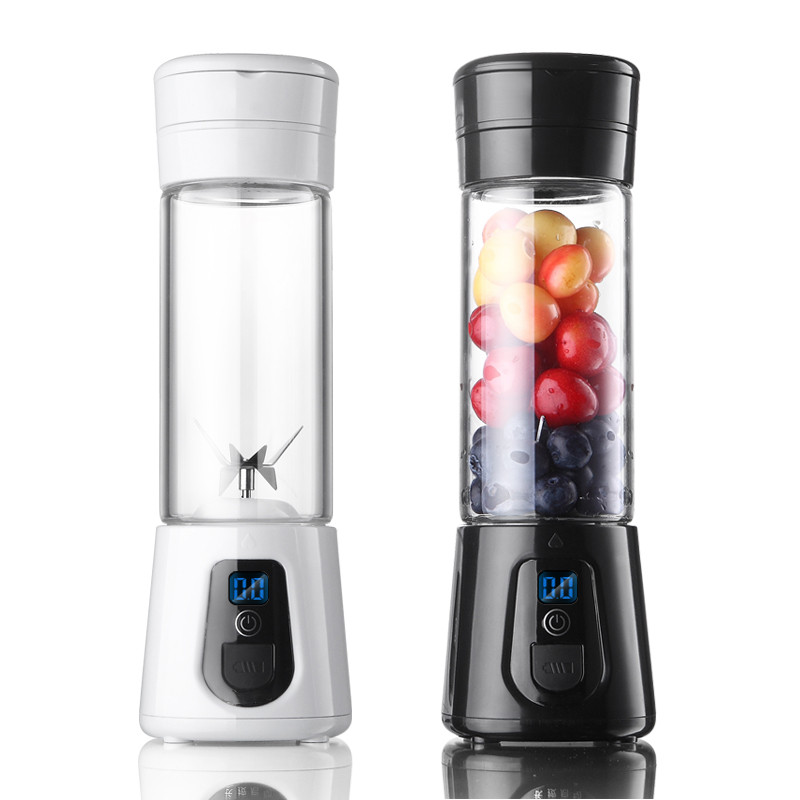 Portable Blender Mini Personal Blender Smoothie Maker USB Fruit Juicer Glass Cup