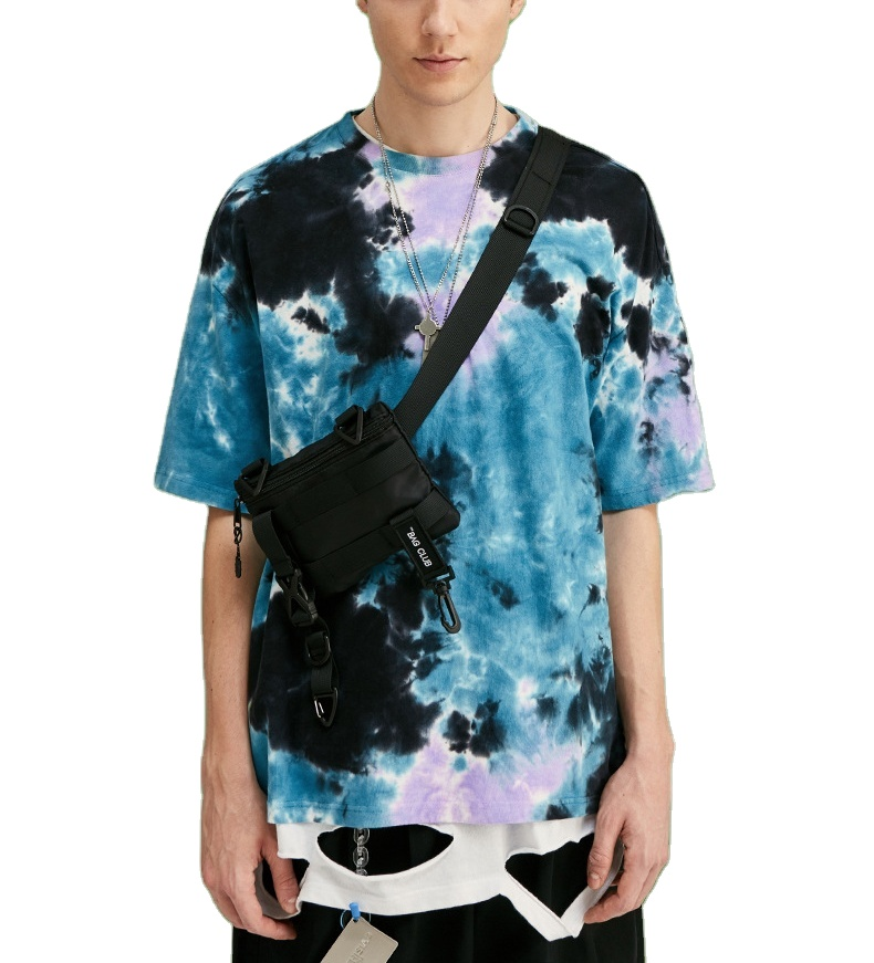 custom spring unisex Drop shoulder 100% cotton t shirt tie dye customized tshirt designs printing <strong>logo</strong>