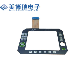 Can be customized Membrane Switch with 3M Rear Adhesive for Industrial Control