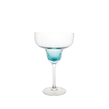 OEM ODM 14 oz Blue Bubble Margarita Glass