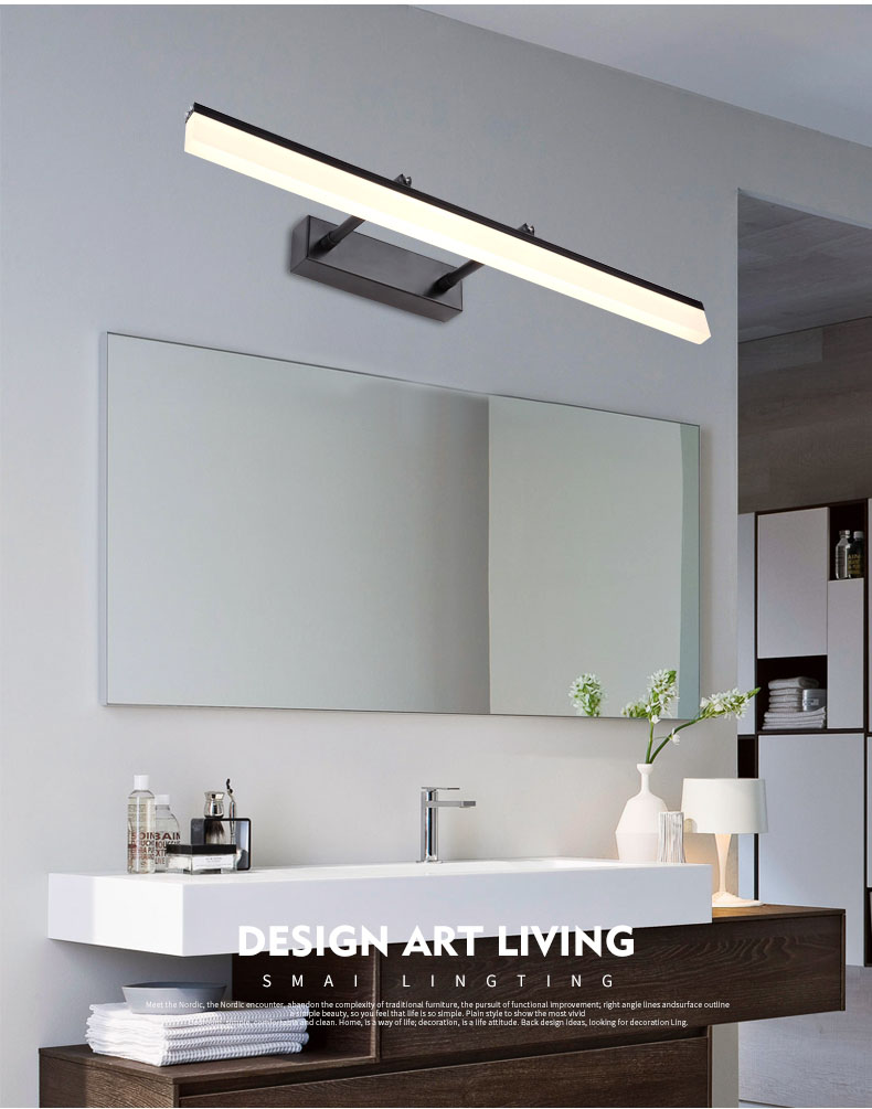Mirror front light Modern waterproof anti-fog led mirror cabinet light bathroom bathroom wall lamp dressing table lamp