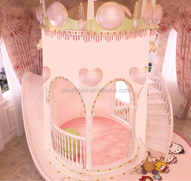 kids furniture, children princess beds, girl pink bedroom furniture set