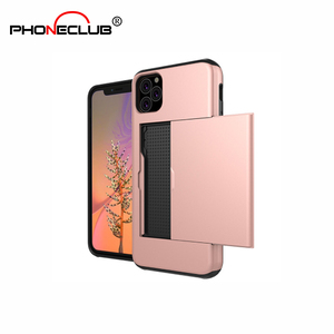 2019 For iphone 11 slider case Card Holder Back Case For iphone 6 6S 7 8 Plus X XS XRXS Max Luxury Wallet Case