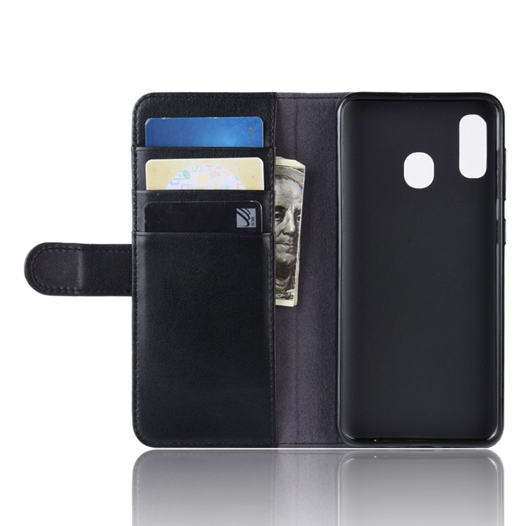 High Quality Direct <strong>Sales</strong> 2 In 1 Luxury Design <strong>For</strong> Samsung A20 Ultra-Thin Protective Cover Flip Pu Leather Wallet Leather Case