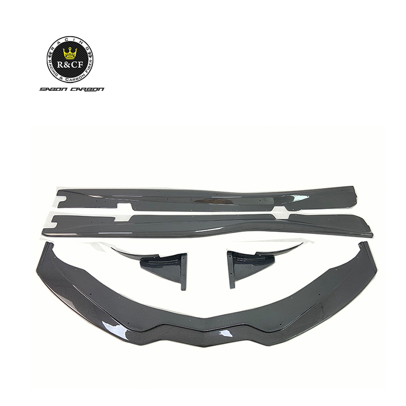 Carbon Fiber Front Bumper Splitter Lip with Canards Side Skirt Bodykit For Corvette C7 <strong>Z06</strong>