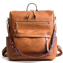 Wholesale Leather Backpack Women 2019 Students School <strong>Bags</strong> Large Backpacks Multifunction Travel <strong>Bags</strong>