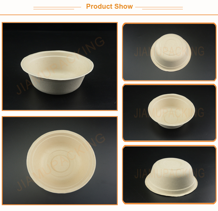 Wholesale Biodegradable Wheat Straw Food Container Bowl