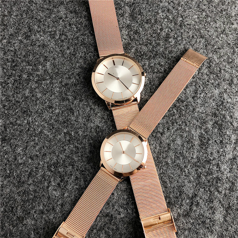 Hot Luminous Casual Quartz Waterproof stainless  Straps  Couple Watch For Women And Men unisex Watches