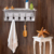 Home decor and storage wooden coat rack with shelf