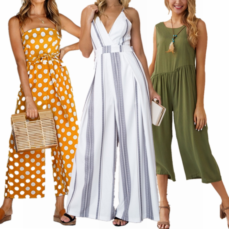Latest Adult Casual Short Sleeved Print V Neck Pants One Piece Sexy Rompers Womens Ladies Women Jumpsuits Women 2019