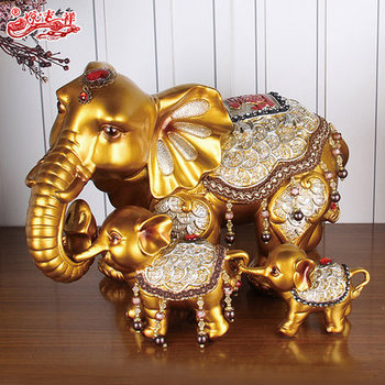 Custom various new design golden small elephant statue home decoration