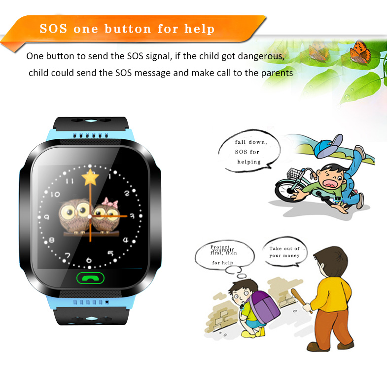 GPS Full Touch Screen kid smartwatch Bluetooth Q528 cell phone watch SOS for help IP67 wristband with flashlight