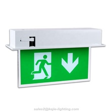 LED maintained safety ceiling mounted double side emergency exit <strong>sign</strong>