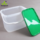 9L clear food grade rectangle plastic storage container with lid and handle