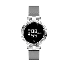 Luxury Women Smart Watch 44 Crystals 0.66 inch Screen Wristwatch Heart Rate Lady Smartwatch <strong>X10</strong>