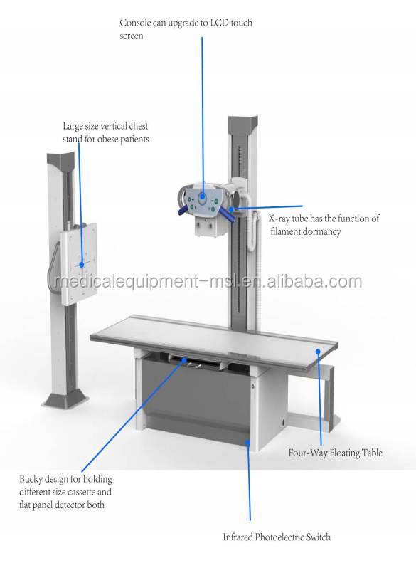 High frequency 200ma x-ray machine for medical diagnosis/x-ray machine cost MSLHX04