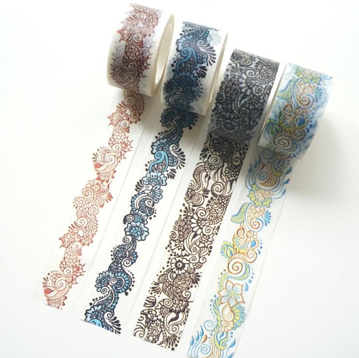 chinoiserie unique pattern diy notebook home decoration  tape
