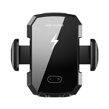 Qi 10W Car Wireless Charger Wireless Charging Stand for fast Infrared Automatic Induction Wireless Car Charger <strong>Phone</strong> <strong>Holder</strong>