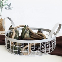 Modern Industrial Handmade Designs sundries basket wire basket storage