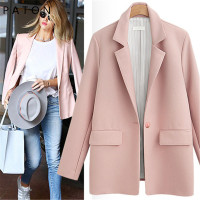 Women England style suit V-neck oversized blazer Exquisite Workmanship Ladies Office Uniform suit