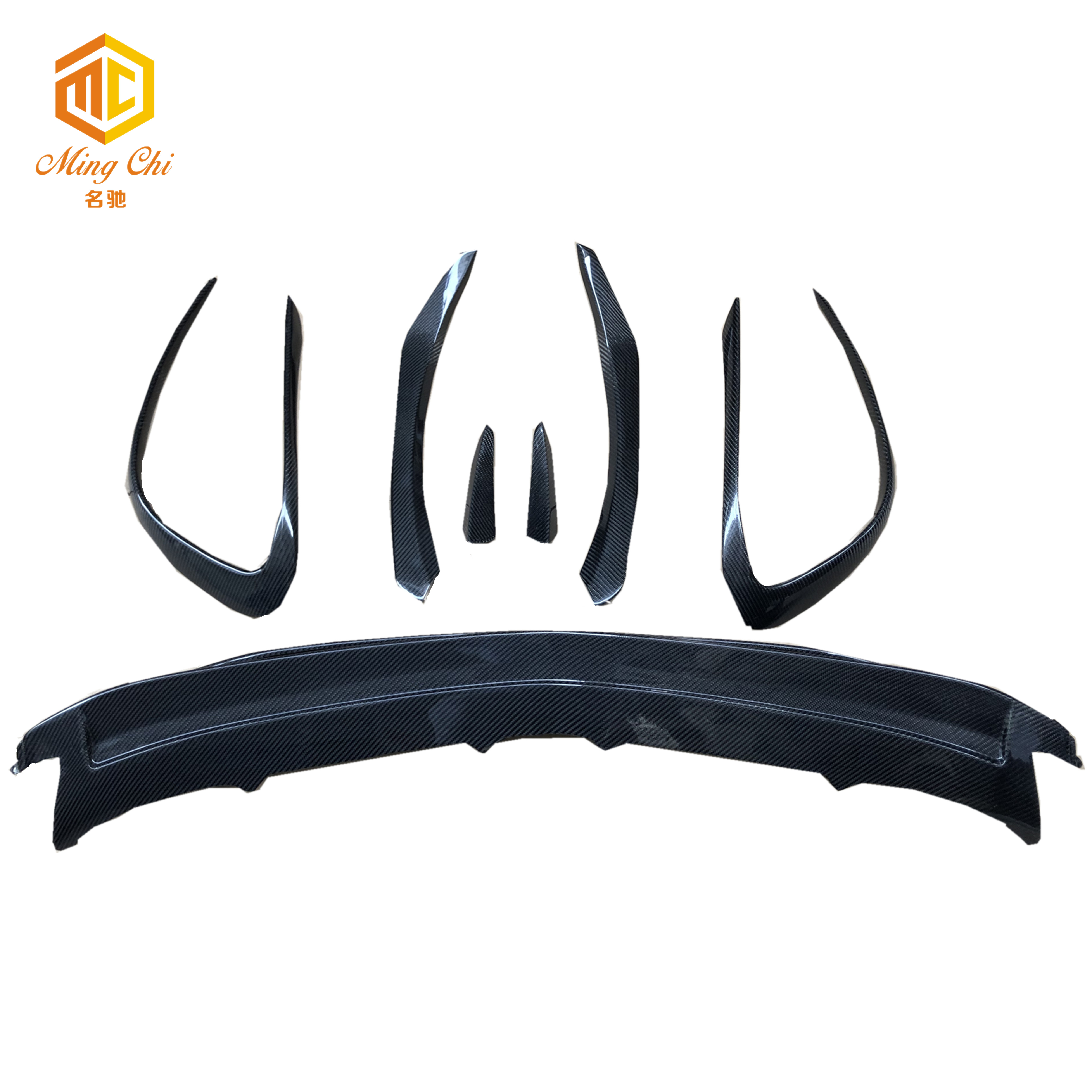 OEM AMG style front bumper carbon lip for Mercedes Benz cla45 cal200 cal250 <strong>w117</strong> front separator trim heat sink