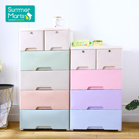 New Style Colorful Macaron Kitchen Baby Cabinet Plastic Drawers