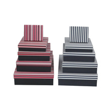 Hot Sale Cheap Decorated <strong>Black</strong> And White Paper Box <strong>Black</strong> Stripe Paper Gift Box