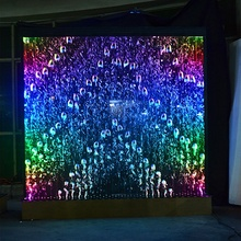 2019 hot sale digital control multi colour LED water bubble wall bar furniture