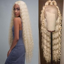 Unprocessed 613 Blonde Color Water Wave HD Transparent Lace Virgin Remy Human Hair Lace Front Wig
