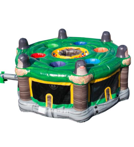 5m crazy human inflatable whack a mole for Children and adults interactive games