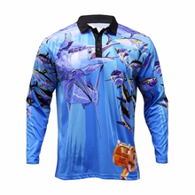Custom made sublimation Fishing Jersey, polyester polo fishing <strong>wear</strong>
