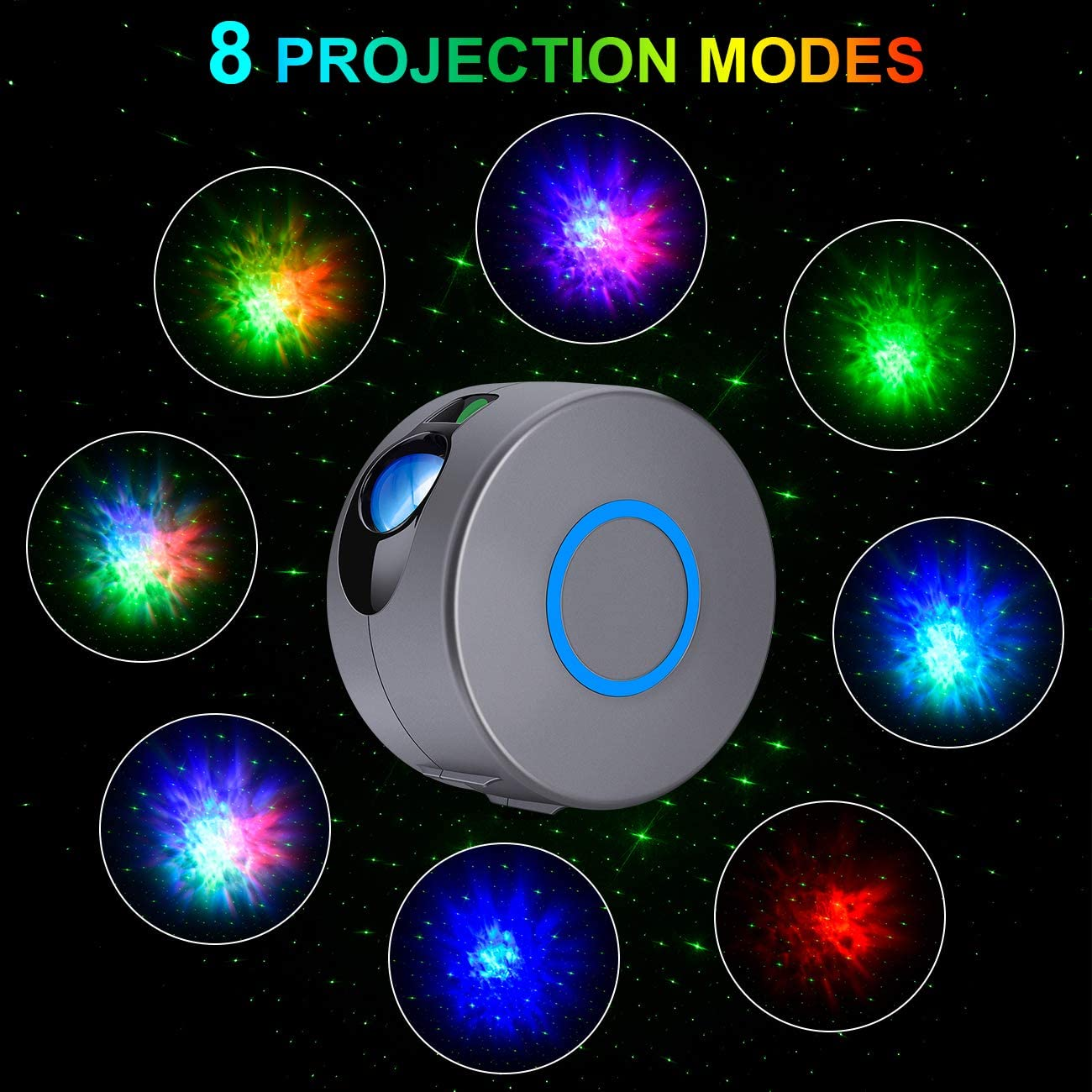2020 Most Popular Baby Night Light Projector with LED Nebula Cloud 16 Color Modes and 4 Angles Projection