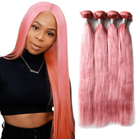 mexican remy virgin human hair extension, human hair pink weave bundles