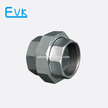 Black Malleable iron Pipe Fittings Union