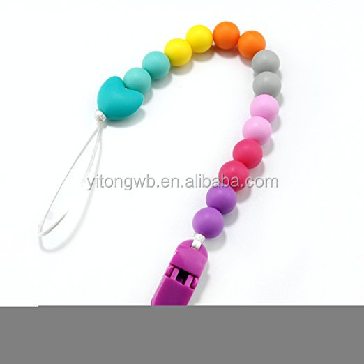 2019 Fresher Truck Baby Toy Gift Silicone Teether Pacifier Chain Holder Clip