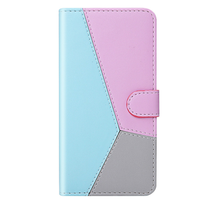 Three color leather joint pu wallet Stand Card Holder Flip cover back case for LG <strong>W10</strong>