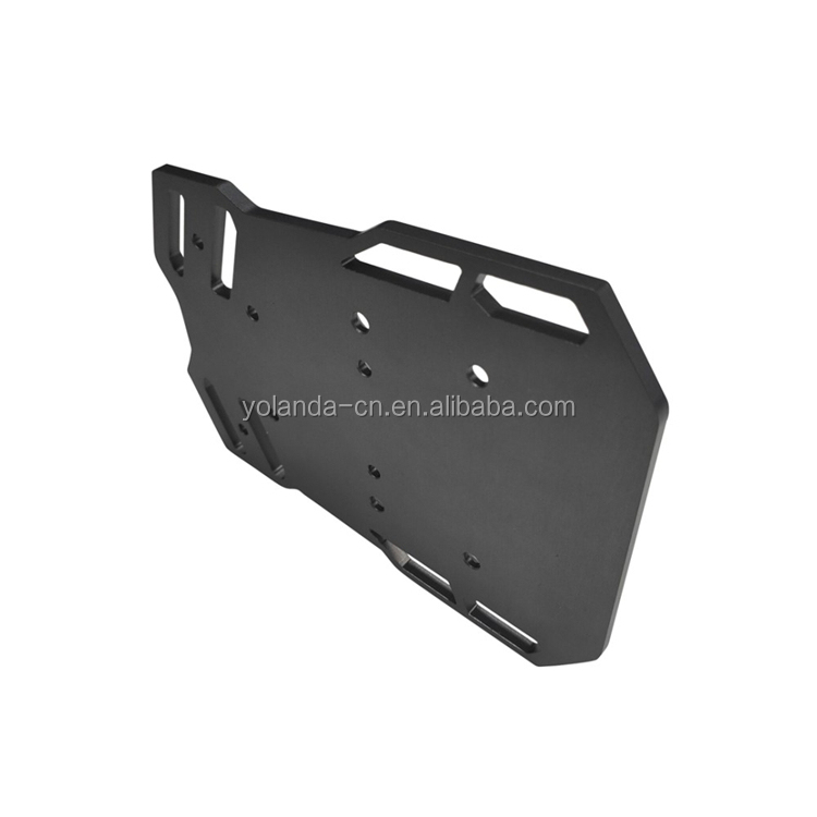 OEM Factory Manufactured Custom Grey Anodizing Precision CNC Machining Milling Aluminum Baseplates