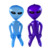 Good quality wholesale and custom 90cm PVC alien inflatable toy