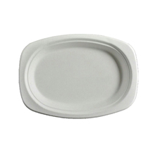 Custom Design 100% Biodegradable Compostable Disposable Oval Sugarcane <strong>Plates</strong> and trays biodegradable tableware