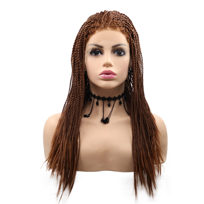 Synthetic Twist Box Braid Lace Front Wig For Black Women