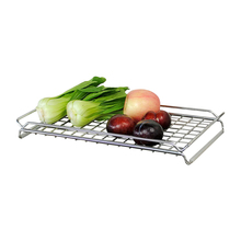 Manufacturer Expandable Kitchen SUS304 Stainless Steel <strong>Fruit</strong> and Vegetable Dishes Holder Draining Rack