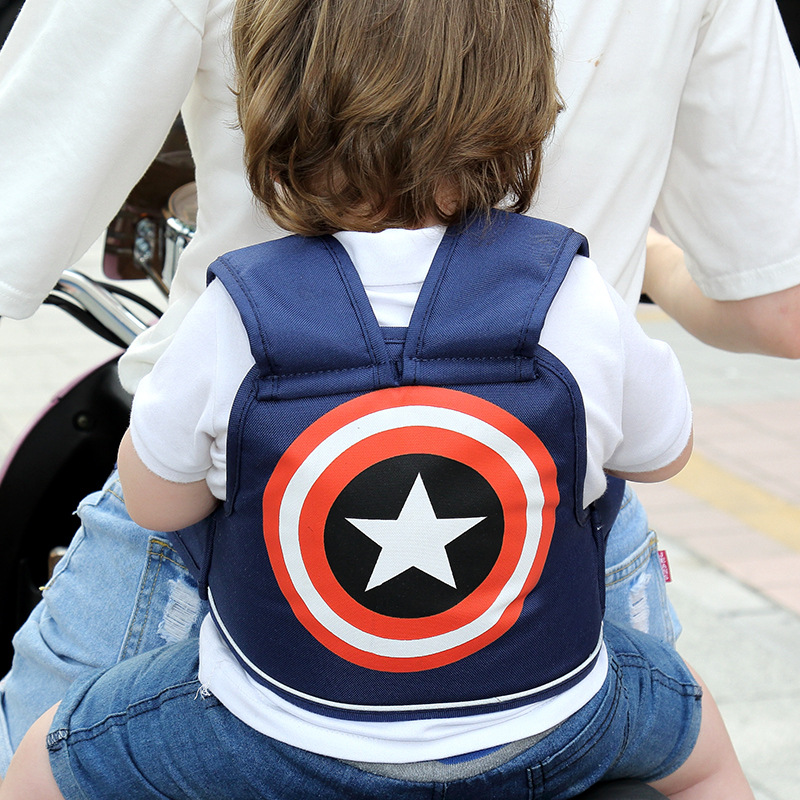 Motorcycle Safety Belt Children Adjustable Night Reflective Strip Electric Motor Child Carrier Harness