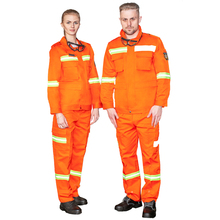 <strong>Orange</strong> fireman's uniform large reflective strip firefighting suit wear-resistant and breathable